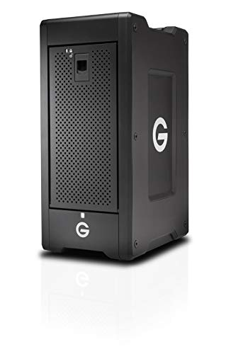 G-Technology 48TB G-Speed Shuttle XL Thunderbolt 3 with ev Series Bay Adapters – Transportable 8-Bay Raid Storage Solution - 0G05854-1