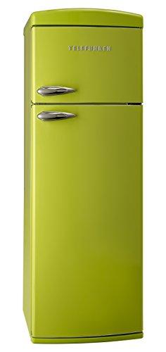 Telefunken TFK1543FG2 Kühl-Gefrier-Kombination / A++ / 175,4 cm Höhe / 206 kWh/Jahr / 242 L Kühlteil / 63 L Gefrierteil / Retro-Design / grün