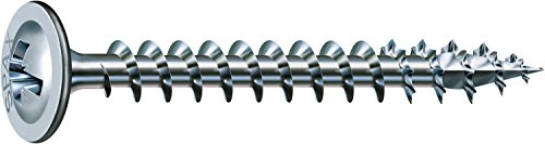 SPAX Rückwandschraube, 4,5 x 45 mm, 1000 Stück, Kreuzschlitz Z2, Rückwandkopf, Vollgewinde, 4CUT, WIROX A3J, 0281010450452