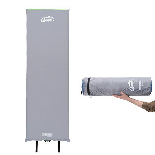 Qeedo Quick Pad 500 XL Isomatte selbstaufblasend 202 x 66 cm (vers. Stärken) selbstaufblasbare Isomatte inkl. Tornado-Ventil (schneller), Easy-Roller (einfaches & kompakt) und robuster Packtasche