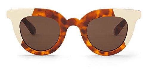 Mr. Boho | Hayes | Cream / Leo Tortoise   -   Gafas de sol para mujer