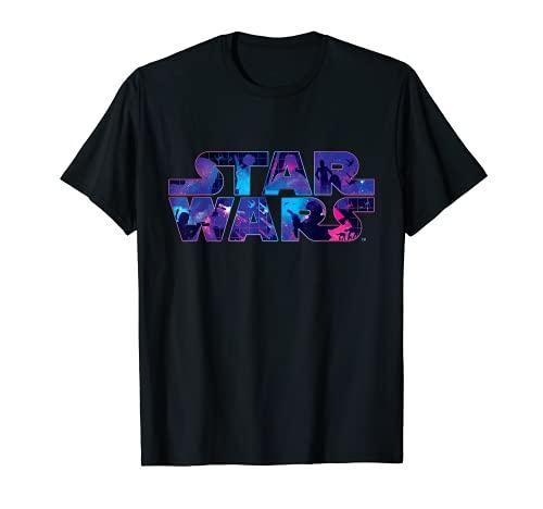 Star Wars Logo Retro 90s Twinkling Stars T-Shirt T-Shirt