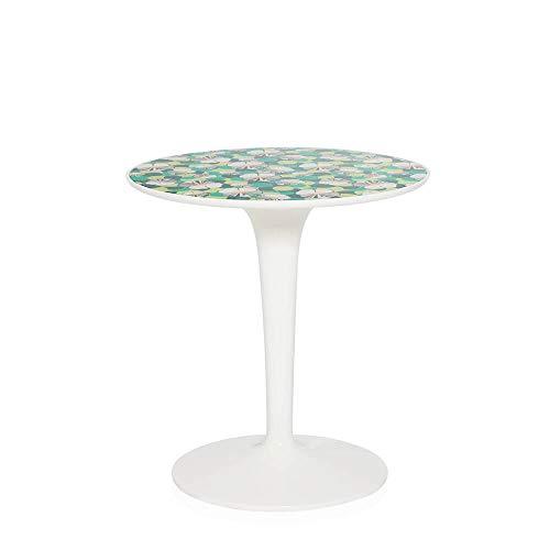 Kartell Tip Top table basse blanche avec plateau décoré La Double J ninfea