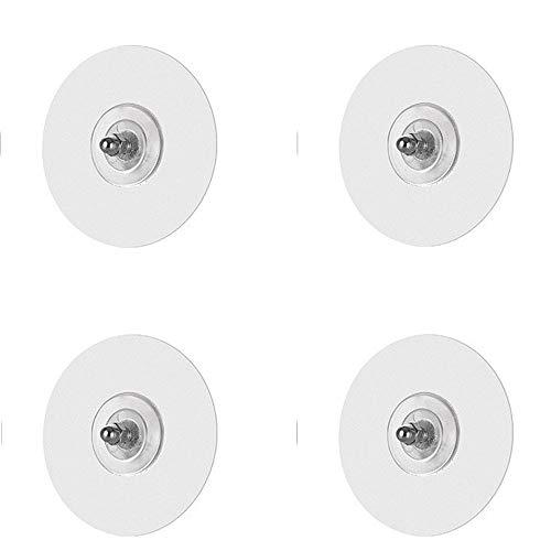 WUHUAGUO Gancho Autoadhesivo 4 Piezas Ganchos De Pared Resistentes Sin Taladrar Ganchos De Varilla Transparente 6 * 7 mm