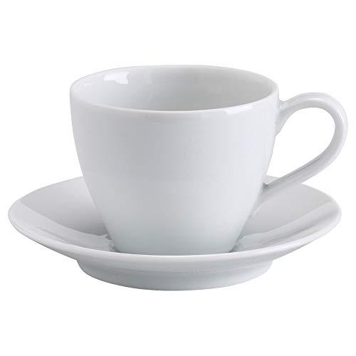 IKEA Värdera Kaffeetasse und Untertasse, weiß