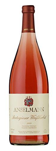 6 x Portugieser Weissherbst 1l mild 2019 Weingut Anselmann, milder Roséwein aus der Pfalz