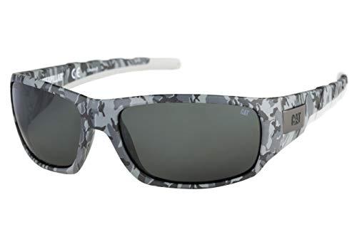 Caterpillar Men's Coffer Polarized Sunglasses Rectangular, Matte Camo, 63 mm