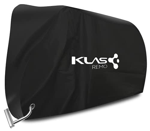 KLAS REMO Funda para Bicicleta Exterior, Cubierta Bicicleta Impermeable 210D contra Lluvia/UV/Polvo/Nieve con Orificio de Bloqueo para Bicicleta de Montaña Bici Carretera,Moto 200x70x110cm -Negro
