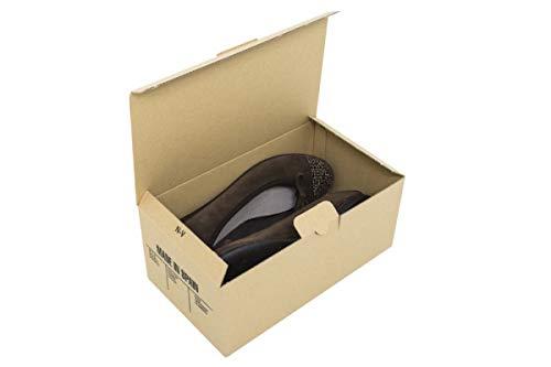 Cajeando   Pack de 10 Cajas de Cartón Automontables para Zapatos   Tamaño 24,5 x 14 x 10 cm   Zapatero Apilable y Ordenación de Sneakers o Zapatillas   Guarda Zapatos   Color Marrón