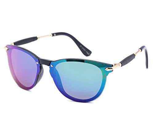 Alsino Viper Lunettes de soleil légères ovales avec protection UV 400 Protection Viper Eyewear Collection pour homme et femme Unisexe, Bleu/doré.