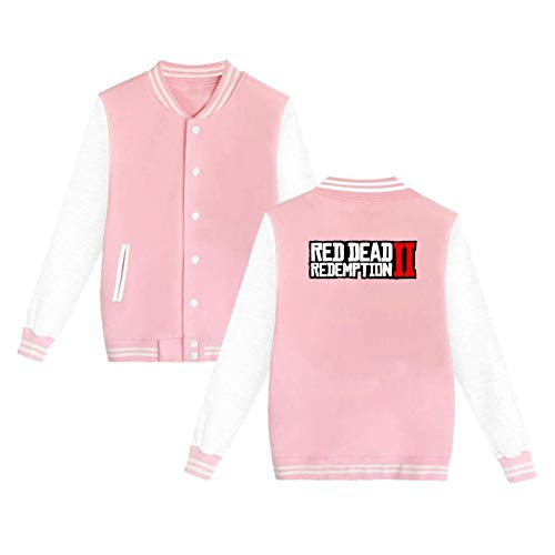 Red_Dead_Redemption_2 Hoodies Casual Cotton Fashion Printed Pink S