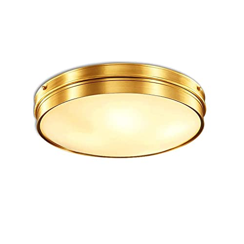 N/Z Home Equipment Glass Metal Round Brass Ceiling Light Contemporary Style with Bathroom Bedroom Kitchen and Living Room Fixtures