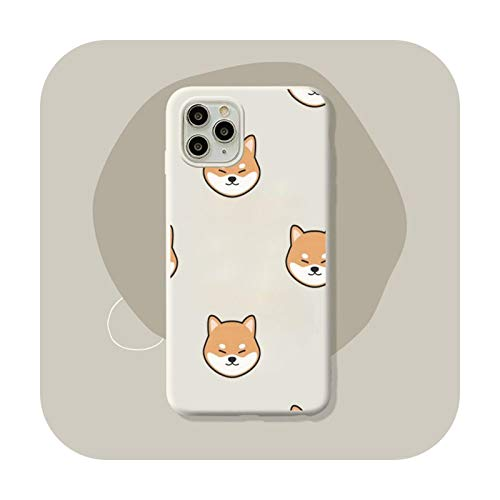 Shiba Inu Dog Funda de silicona suave para iPhone 11 12 Pro Max XS XR 8 7 6 6S Plus Cover Coque-a3-para iPhone 11