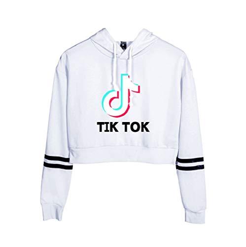 Aibayleef Unisex Felpa con Cappuccio TIK TOK Hooded Pullover Sweatshirt Maniche Lunghe Classic Sweat Blusa Casual Maglietta Outwear Camicetta Tops