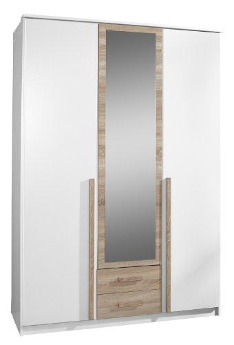 Wimex Kleiderschrank/ Drehtürenschrank Rio, 2 Schubladen, (B/H/T) 135 x 197 x 58 cm, Weiß