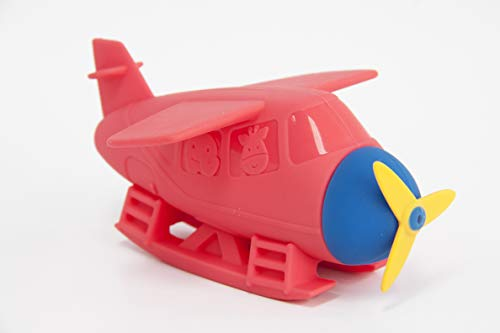 Marcus & Marcus Squirting Baby Bath Toy, Red Sea Plane Product Image