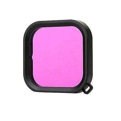 Fesjoy Filtro de cámara de acción, 1 pieza, filtro de cámara de acción compatible con GoPro Hero 8, accesorio de cámara deportiva, color morado