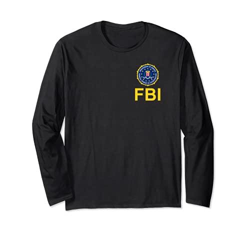 Camisa del FBI, logotipo del sello del pecho del FBI, logotipo federal del sello del pecho de la investigacin Manga Larga