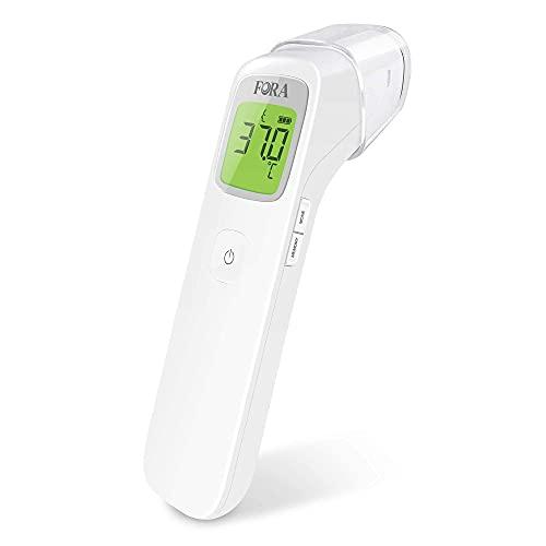 FORA IR42, Klinisches Infrarot-Stirnthermometer, kontaktlos, Multifunktional, Geeignet für Babys und Erwachsene, Sofortige und exakte Messung, Mit Fieberalarm und Erinnerungsfunktion.