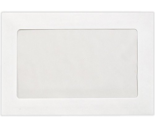 6 x 9 Full Faced Window Envelopes - 28lb. Bright White (250 Qty.) | Perfect for Tax Season, Sending Pamphlets, Brochures and so Much More! | Printable | 28lb Paper | FFW-69-250