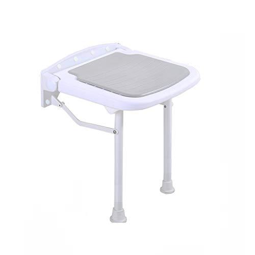 LLCY Duschhocker Badezimmer Anti-Skid Bad Wandstuhl Badezimmer Falthocker Dusche Hocker Thermostatische Kissenlagergewicht 300kg Badhocker (Size : 38cm×36.5cm×47.5cm)