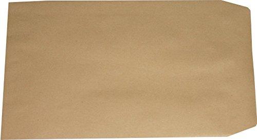 50 Stück Versandtaschen Briefumschlag C5 A5 braun selbstklebend ohne Fenster 229x162 mm SK
