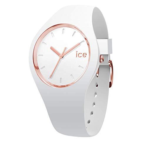 Ice-Watch - ICE glam White Rose-Gold - Montre blanche pour femme avec bracelet en silicone - 000977 (Petit)