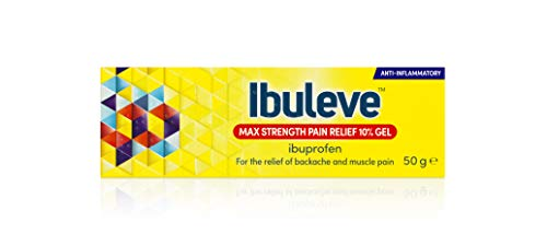 Ibuleve Max Strength Pain Relief 10% Ibuprofen Gel, Maximum Strength Anti-Inflammatory Relief for Joint Pain, Sprains, Backache, Muscular Pains and Sports Injuries, 50 g