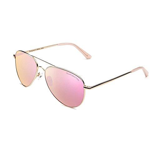 CLANDESTINE A10 Gold Rose - Gafas de Sol de Nylon HD para Hombre & Mujer