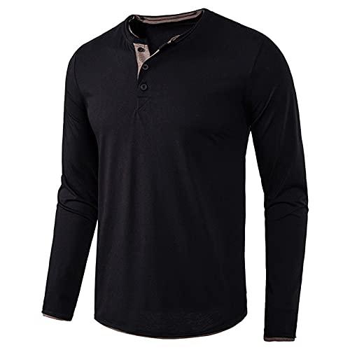 XDJSD Camisetas De Otoño E Invierno para Hombre Camisetas De Fondo para Hombre Camisetas con Cuello De Pico De Otoño E Invierno para Hombre Camisetas Casuales De Color Sólido Sudaderas para Hombre