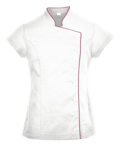 Portwest LW15 - Las señoras del abrigo de la túnica, color Blanco, talla Large