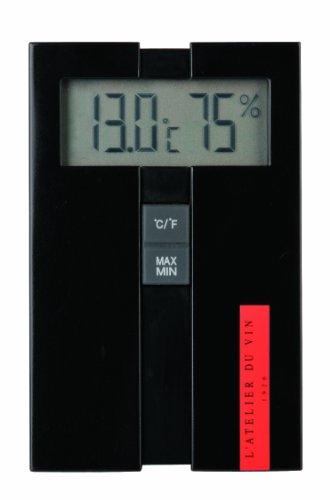 L'ATELIER DU VIN - Station Digitale Hygro-Thermo - Mesurer la Température et l'Humidité de Votre Cave - Pile AA Incluse