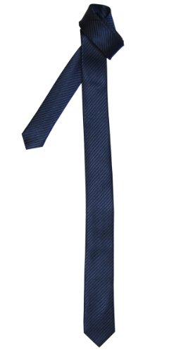 Retreez - Cravatta sottile con motivo a righe, in colori assortiti Navy blue Taglia unica