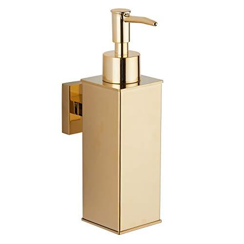 bgl Dispensador de jabón de acero inoxidable 304 montado en la pared para decoración del hogar (dorado)