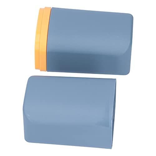 Caja de almacenamiento de cepillo de dientes, soporte de cepillo de dientes de peso ligero para baño reciclable con soporte de cepillo de dientes de viaje a granel para niños para la(Navy blue)