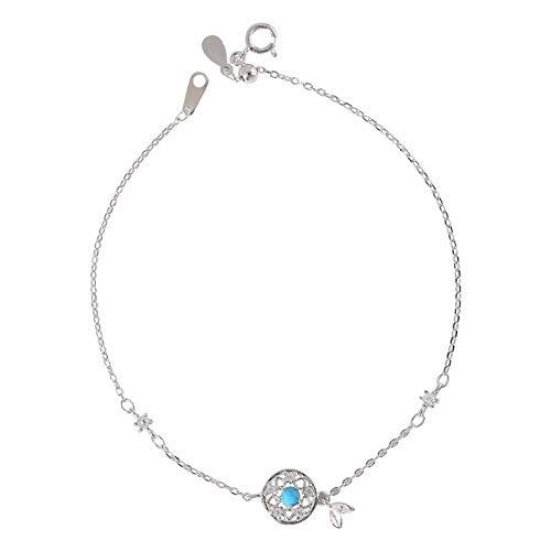 beadsnice 925 Sterling Silver Bracelet Anklet Women Dream Catcher Charms Ankle Bracelets, for Christmas,Birthday,Anniversary