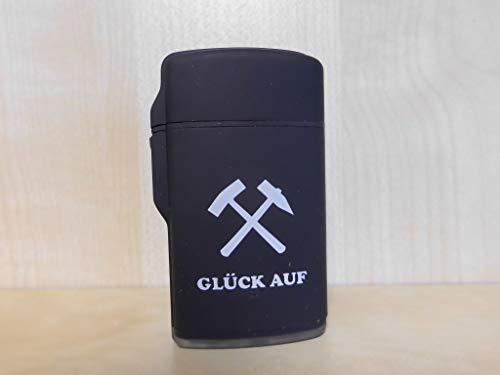 ZORR Ruhrpott - Feuerzeug - Rubber Jet-Flame - (schwarz) - Hammer + Schlägel - Glück Auf - Pott - Ruhrgebiet -