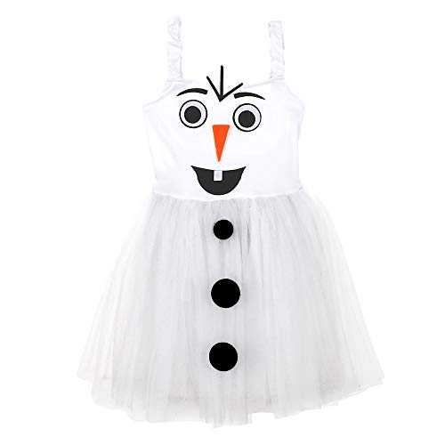 WIDMANN Srl disfraz de Muñeco de nieve elástico de niña, Color blanco, wdm96533