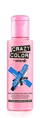 4 x Crazy Colour Semi Permanent Hair Dyes 100ml (Capri Blue)