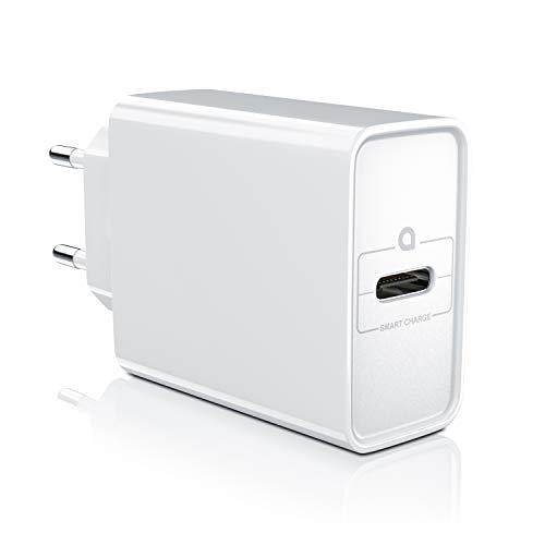 CSL - USB Typ C Ladegerät Netzteil mit Power Delivery - USB Charger - Schnellladefunktion - 30 Watt - Kompatibel mit MacBook Pro – MacBook Air – iPad Pro – iPhone X XS 8 – Samsung S20 S10 S9 S8