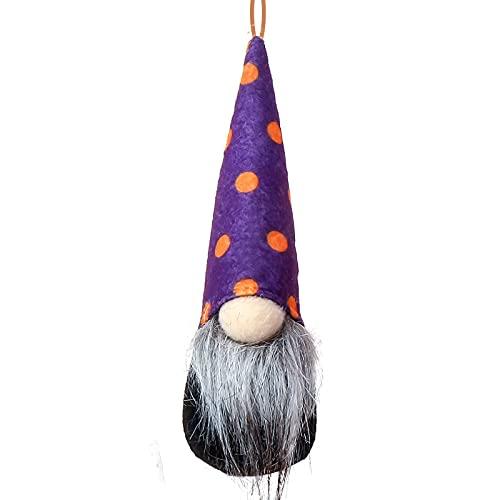 KOUQI Bat Spider Stripe GNOME Doll Decoration Paparazzi Pendulum Rudolph 17 * 6 Punto de Onda prpura