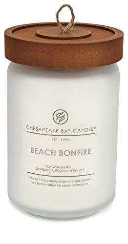 Chesapeake Bay Candle PT40715 Scented Candle, Beach Bonfire (Cedarwood Oak Moss), Large Jar