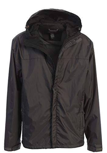 Gioberti Men's Waterproof Rain Jacket, Charcoal, S