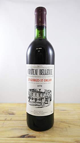 Wein Jahrgang 1978 Château Bellevue Flasche
