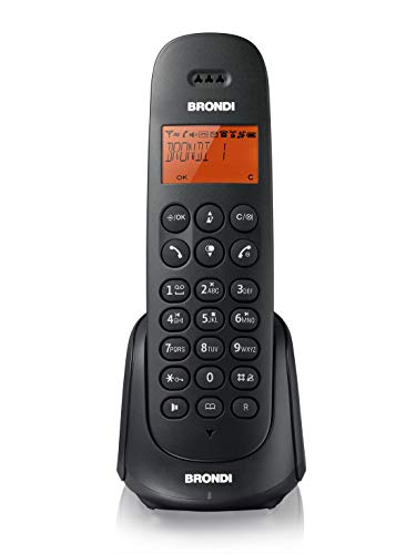 Brondi Adara Sb Telefono Cordless, Nero