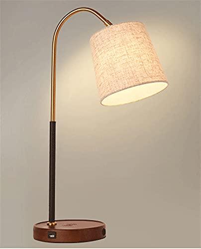 Lámpara Escritorio LED con Carga Inalámbrica Wireless y Puerto Flexo de Lectura con 3 Modos y Control Táctil Regulable y Temporizador Bajo Consumo control remoto (Color : B)