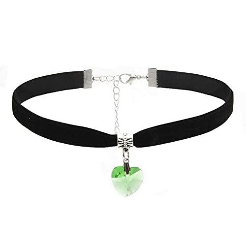 LUIDILUC Collar Sorella corazón para 2 dividido en dos letras Lil Sis Big Sis Verde