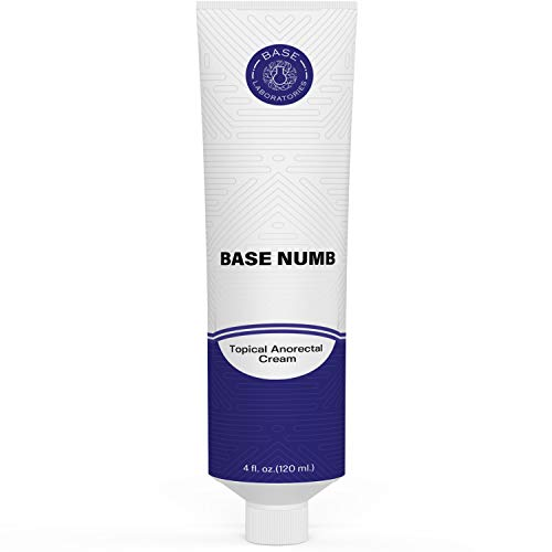 Base Labs 5% Lidocaine Numbing Cream for Tattoos, Piercings, Waxing - 4 FL oz - Tattoo Numbing Cream, Topical Anesthetic Cream, Numbing Gel for Piercings, Brazillian, Microneedling, Injections 120ML