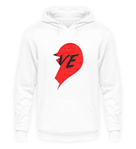 Das Valentinstag-Partnershirt. Broken Heart Teil B für SIE. Kaufe auch Teil A für IHN - Unisex Kapuzenpullover Hoodie -XXL-