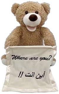 Small Teddy Bear Toy for Baby Girls or Boys - Peek a Boo Teddy Bear Toy for Babies Talking Toy